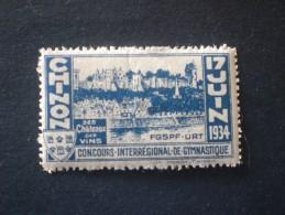 FRANCIA 1934 CONCORSO INTERREGIONALE DI GINNASTICA MNH - Commemorative Labels
