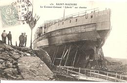 44 SAINT NAZAIRE LE CROISEUR CUIRASSE LIBERTE SUR CHANTIER - Saint Nazaire