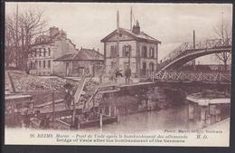 FR - 51 - REIMS - Le  Pont De Vesle Après Le Bombardement Des Allemands - Photo Marcel Delboy - - Reims