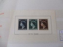 Bloc 7 Luxembourg A Charnieres Timbres Neuf - Blocks & Sheetlets & Panes