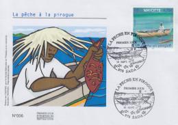 Enveloppe  FDC   1er Jour    MAYOTTE     La  Pêche  à  La  Pirogue    2005