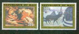 Noel, - MALI - Art, Peinture -Saint Joseph Et L'enfant Jésus - La Fuite En Egypte, Paul Gauguin -  N° 407-409 ** - 1980 - Mali (1959-...)