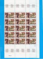 1960 (  Feuille De 25 Valeurs Du N° 1608 (  Maréchal Leclerc Libération De Strasbourg ) Cote 87,50€ - Feuilles Complètes
