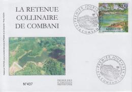 Enveloppe  FDC  1er  Jour    MAYOTTE    Retenue  Collinaire  De  COMBANI   1999