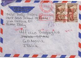 Raccomandata Roma -> Genova Come Da Scansione - 6. 1946-.. Repubblica