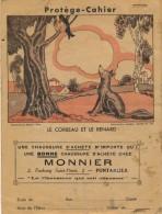 Protège-cahiers Du Magasin De Chaussure Monnier 2 Fg Saint-Pierre à Pontarlier, Le Corbeau Et Le Renard - Protège-cahiers