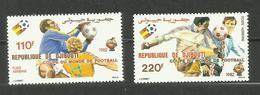 Djibouti POSTE AERIENNE N°159, 160 Neufs** Cote 7.35 Euros - Yibuti (1977-...)