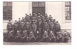 Militaire Militaria Carte Photo Regiment 79 Eme Groupe Soldats Cachet Chalon Sur Marne 1913 - Régiments