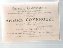 Viticulture -  Chaudronnerie Appareils à Sulfate - Ets COMBROUZE -  Libourne - - Autres Collections