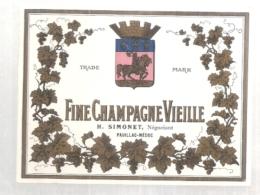étiquette  - 1920/50* - Fine Champagne Vieille SIMONET - COGNAC - - Other
