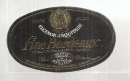 étiquette  - 1960/90 - Fine De Bordeaux - Brandy Eleanord  Saint André De Cubzac - Etiquetas