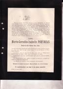 IXELLES LAEKEN Marie-Cornélie PORTAELS Veuve Adrien VAN GILSE 75 Ans 1901 Familles DEBONTRIDDER LIEBAERT - Obituary Notices