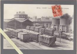Niort - La Gare Avec Trains - Galeries Parisiennes - Niort