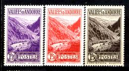 Andorra-029 - Valori Emessi Negli Anni 1937-43 (++/+) MNH/LH - Privi Di Difetti Occulti. - Neufs