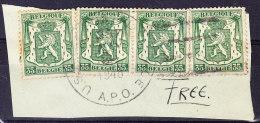 COB 425 (quatre Fois)  Obl US ARMY POST 1949 (6C189) - Postmark Collection