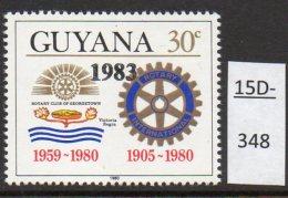 Guyana Rotary 30c With 1983 Overprint. SG 1114. MNH