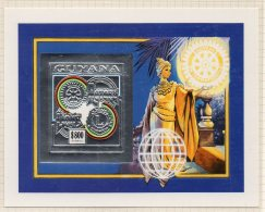 Guyana Rotary Lions 1992 $800 IMPERF M/s In Silver Mi. Block 235B MNH