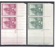 BAU1207 TSCHECHOSLOWAKEI CSSR 1936  MICHL 345/46 ECKRAND Mit  LEERFELD + ZÄHLNUMMER ** Postfrisch Siehe ABBILDUNG - Tschechoslowakei/CSSR