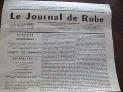Le Journal De Robe Jurisprudence Des Cours D'appels D'Alger 18/12/1956 N°1689 - Livres, BD, Revues