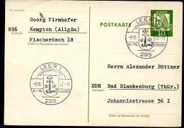 WAPPEN LEER OSTFRIEDLAND Auf Postkarte Bund P74 1962 - Briefe U. Dokumente