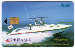 MALDIVES REF MV CARDS MAL-C-06a 323MLDGIN ATOLL RANGER - Maldives