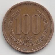 @Y@     Chili   100 Pesos   1986      (3442) - Chili