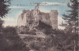 48---Ruines Du Château De La Garde,près ST-CHELY--voir 2 Scans - Otros Municipios
