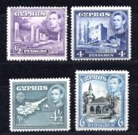 1938 CYPRUS DEFINITIVES MICHEL: 138, 147-149 MNH ** - Chypre (...-1960)