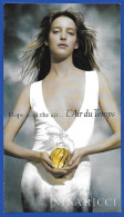 F- Carte à Rabat 3 X 6 - Ricci - L´air Du Temps -  Perfume Card - USA - Perfume Cards