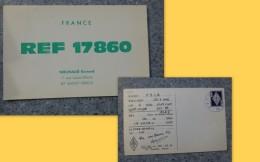 87 Saint-Yrieix, Nouhaud Bernard REF 17860, Carte QSL  1966 ; Ref PH09 - Radio Amateur