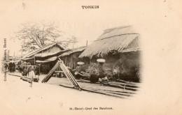 TONKIN -  Hanoï - Quai Des Bambous - Viêt-Nam