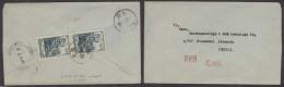 TIBET. 1955 (13 Sept). Chinese Tibet. Lhasa - Nepal / Katmandu. Fkd Reverse China Stamps / Cds. Transits Alongside + ...