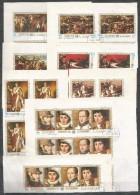 4x AJMAN - Famous People - Napoleon - CTO - Imperf. - Napoléon