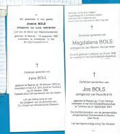 Bidprentjes  Beerse  4   Stuks   Bols - Images Religieuses