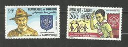 Djibouti POSTE AERIENNE N°169, 170 Neufs** Cote 5.70 Euros - Yibuti (1977-...)
