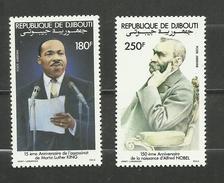 Djibouti POSTE AERIENNE N°186, 187 Neufs** Cote 8.35 Euros - Yibuti (1977-...)