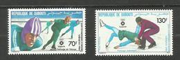 Djibouti POSTE AERIENNE N°195, 196 Neufs** Cote 4.40 Euros - Yibuti (1977-...)