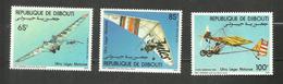 Djibouti POSTE AERIENNE N°197 à 199 Neufs** Cote 5.70 Euros - Yibuti (1977-...)