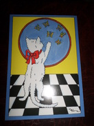 Carte Postale Illustrateur Patrick Hamm  Amour De Félin N°20  La Chasse Aux Papillons - Hamm