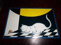 Carte Postale Illustrateur Patrick Hamm  Amour De Félin N°9 Petite Souris - Hamm