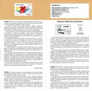 TOURISME ESPAGNE - SOLEIL ET CARTE -  VALISE ET BATEAU - DOCUMENT INSTRUCTIF DE L´ÉMISSION DE TIMBRE ESPAGNE - España