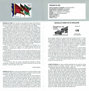 ENSEIGNES DE LION - DOCUMENT INSTRUCTIF DE L´ÉMISSION DE TIMBRE ESPAGNE - España