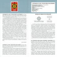 MILITAIRE ROYAL ORDONNANCE DE SAN FERNANDO - DOCUMENT INSTRUCTIF DE L´ÉMISSION DE TIMBRE ESPAGNE - España