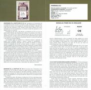 BICENTENAIRE DE LA CONSTITUTION DE 1812 - DOCUMENT INSTRUCTIF DE L´ÉMISSION DE TIMBRE ESPAGNE - España