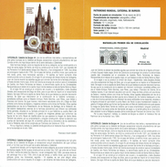 CATHÉDRALE DE BURGOS - DOCUMENT INSTRUCTIF DE L´ÉMISSION DE TIMBRE ESPAGNE - Sin Clasificación