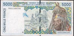 WAS IVORY COST P113Ai 5000 FRANCS  1999   VF  NO P.h. ! - États D'Afrique De L'Ouest