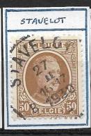 "N° 203 Oblitération ""STAVELOT"" - 1922-1927 Houyoux"