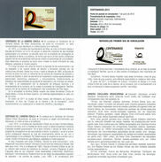 CENTENNIAL ARSENAL ESKOLA EIBAR - DOCUMENT INSTRUCTIF DE L´ÉMISSION DE TIMBRE ESPAGNE - España