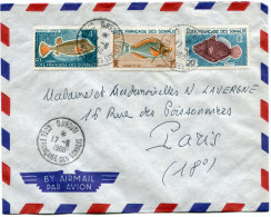 COTE FRANCAISE DES SOMALIS LETTRE PAR AVION DEPART DJIBOUTI 17-6-1960 POUR LA FRANCE - Côte Française Des Somalis (1894-1967)