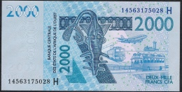 W.A.S. NIGER LETTER H  P616Hn  2000  FRANCS  2012 DATED (20)14  UNC. - Niger